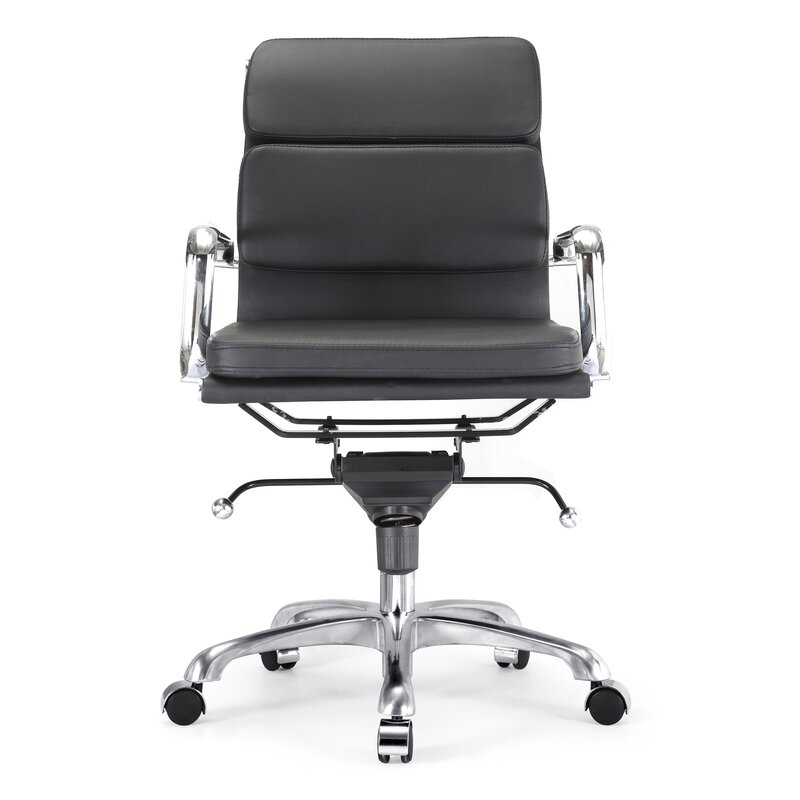classic office chair. Century Padded Classic Aluminum Desk Chair Classic Office Chair