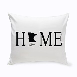 Personalized Home State Cotton Throw Pillow