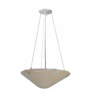 Meyda Tiffany Bambu Fused Glass 2-Light Bowl Pendant