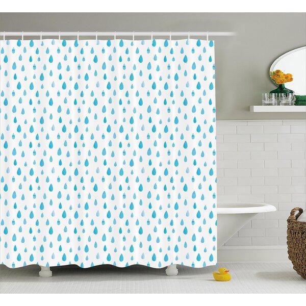 East Urban Home Rain Drop Decor Shower Curtain