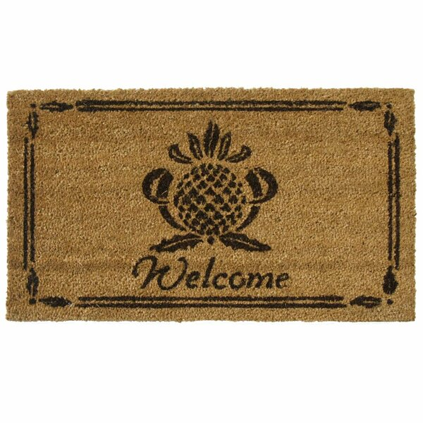 Rubber Cal, Inc. Pineapple Welcome Doormat U0026 Reviews | Wayfair