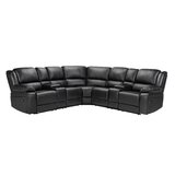Mairwen 108.25 Faux Leather Symmetrical Reclining Corner Sectional by Red Barrel Studio®