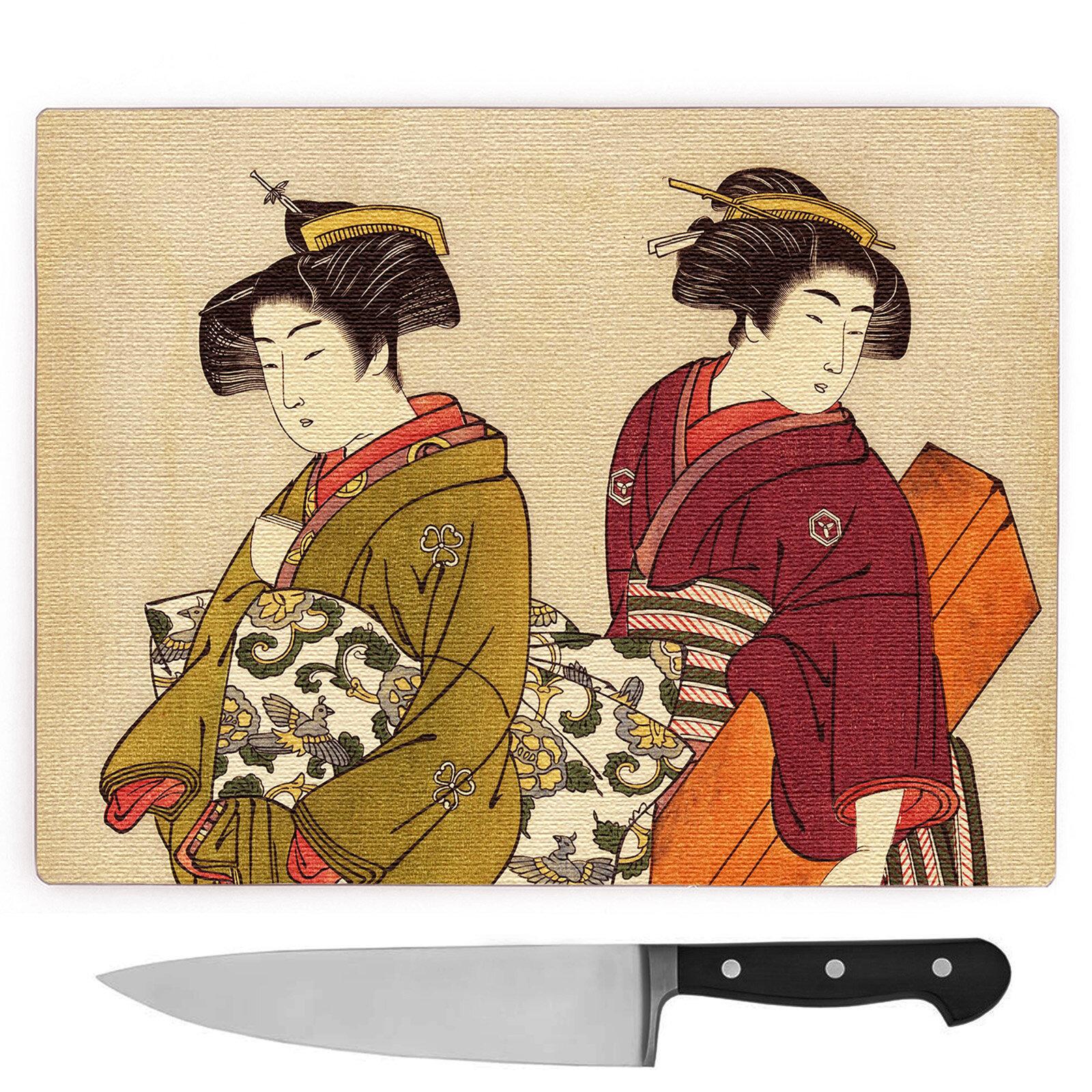 Big Box Art Geisha Japanese Oriental Art Large Chopping Board ...