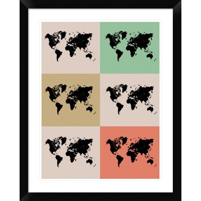Watercolor Push Pin Extra Large Canvas Print Travel Map Wanderlust World Map-46