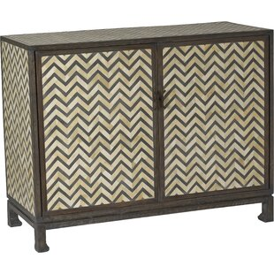 Tangier Herringbone 2 Door Accent Cabinet by Brownstone Furniture