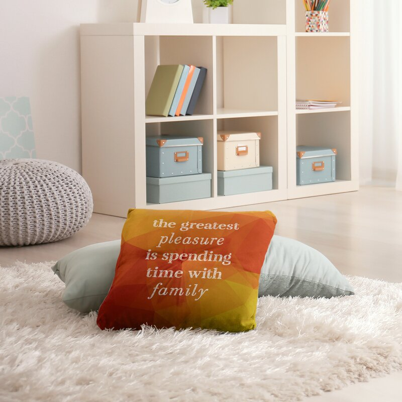East Urban Home Love And Family Throw Pillow Wayfair