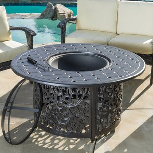 Home Loft Concepts Wheaton Aluminum Wood Burning Fire Pit table