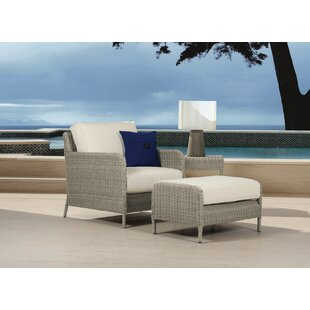 Manhattan Patio Chair with Ottoman