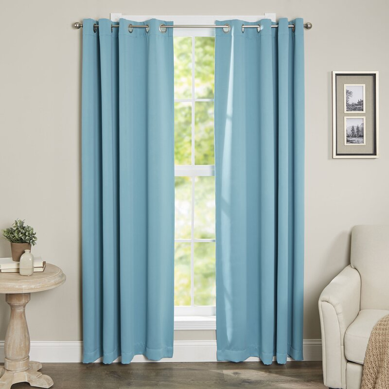 Attractive Tamara Solid Blackout Thermal Grommet Curtain Panels