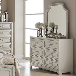 Affordable Eldridge 6 Drawer Double Dresser with Mirror by House of Hampton
