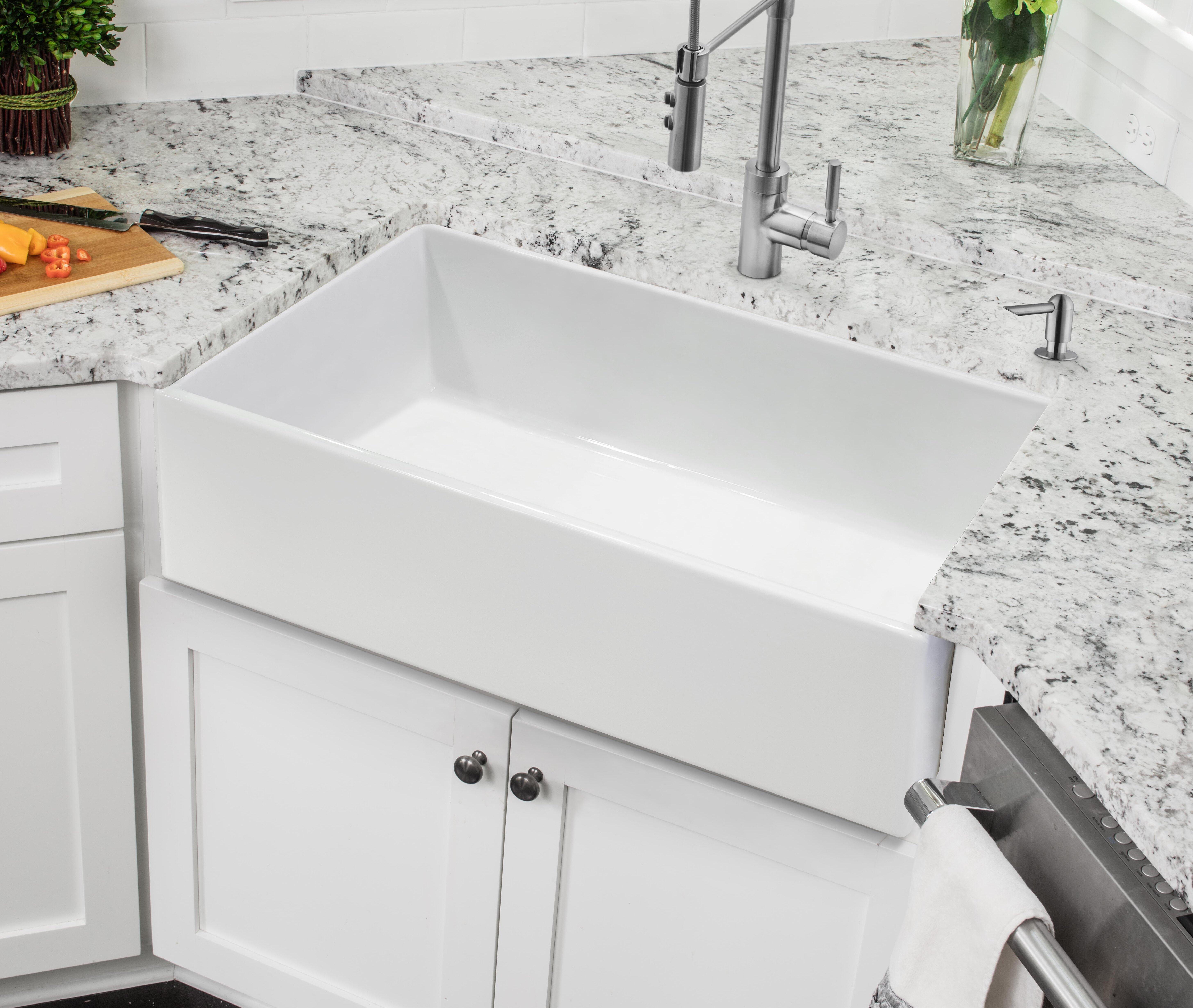 Soleil Fireclay 30 L X 18 W Farmhouse A Kitchen Sink