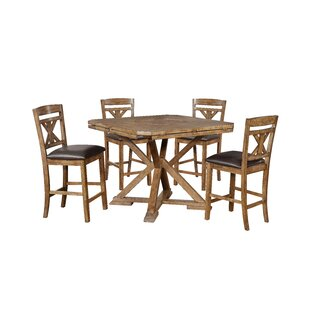 Chapman 5 Piece Drop Leaf Dining Set Millwood Pines