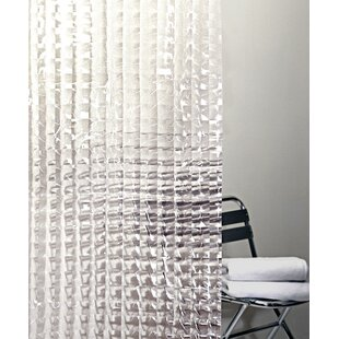 Willa PEVA 4G Cubic Vinyl Single Shower Curtain Liner by Ebern Designs Cheap