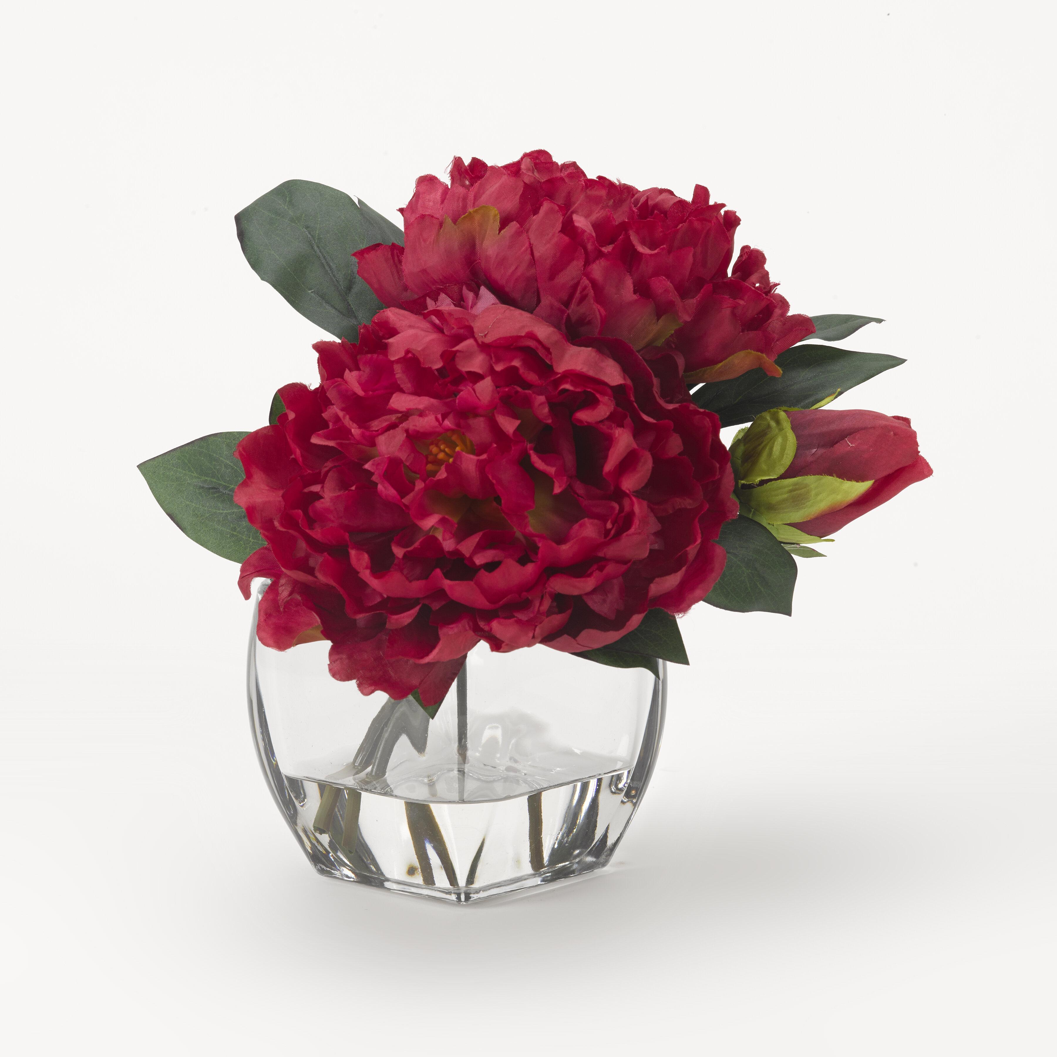 Remarkable Peonies Floral Arrangement And Centerpiece In Jar Interior Design Ideas Clesiryabchikinfo