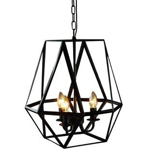 Mizell 3-Light Geometric Chandelier by Gracie Oaks