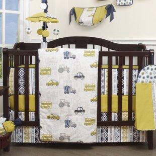 Earlene Transportation Nursery Cars 13 Piece Crib Bedding Set