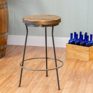 Gregoire Metal and Wood Bar Stool Fleur De Lis Living