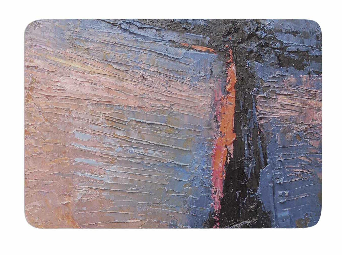 East Urban Home Coral and Blue by Carol Schiff Bath Mat | Wayfair