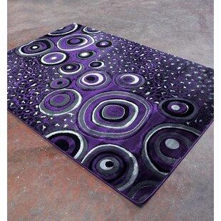 Affordable Price Purple/Black Area Rug ByRug Tycoon