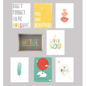 Be Inspired 8 Piece Paper Print Set