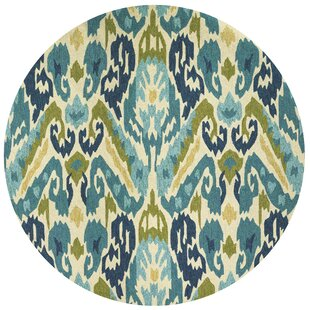 Mariann Hand-Woven Green/Blue Indoor/Outdoor Area Rug by Beachcrest Home