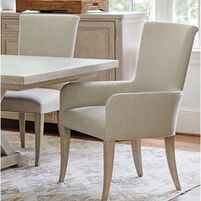 Barclay Butera Malibu Upholstered Dining Chair With Arms Wayfair