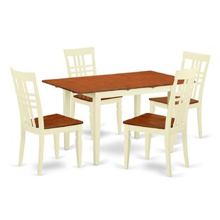 5 Piece Dining Set East West Furniture