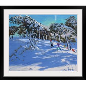 Great Big Canvas Early Winter Birches Michelle Calkins Painting Print Wayfair