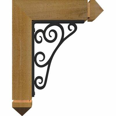 3 12W x 11 12D x 14H 2 Thick Triple Brace Tristan Arts and Crafts Ironcrest Ekena Millwork Color Douglas Fir Wood Finish Rough Sawn Size