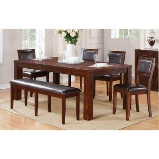 Brookstonval Extendable Dining Table Set  sc 1 st  Wayfair & Dining Table With Bench Set | Wayfair
