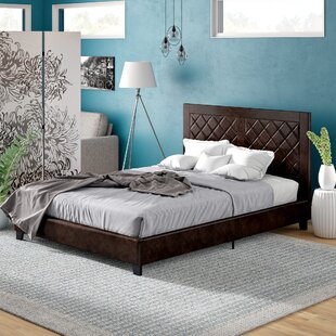Caudell Upholstered Platform Bed by Wrought Studio