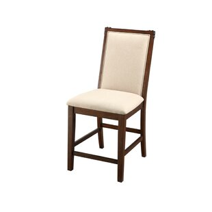 Gillard Rubber Wood 24 Bar Stool (Set of 2) August Grove