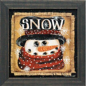 'Snow Texture Coated Christmas' by Michelle Musser Framed Graphic Art