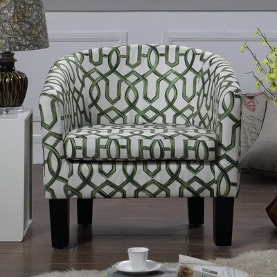 Awe Inspiring Instant Home Isabel Barrel Chair Upholstery Color Geometry Squirreltailoven Fun Painted Chair Ideas Images Squirreltailovenorg