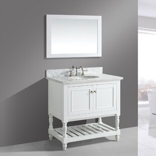 Great choice Mccombs 36 Single Bathroom Vanity Set with Mirror By Charlton Home