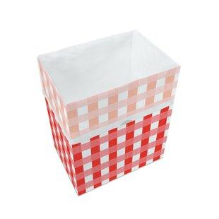 Picnic Pattern Paper 13 Gallon Trash Can (Set of 3)
