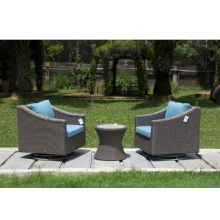 Hollo 3 Piece Seating Group With Cushions By Highland Dunes