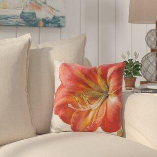 Cleland Vivid Amaryllis Throw Pillow