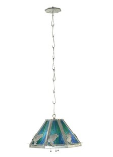 Meyda Tiffany Leaping Bass 3-Light Dome Pendant
