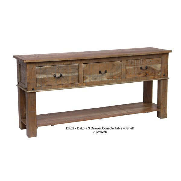 Millwood Pines Walburg 78 Solid Wood Console Table Wayfair