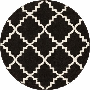 Ozzie Lattice Black Area Rug by The Twillery Co.