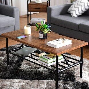 Cheney 2 Tier Coffee Table with Storage Shelf Williston Forge