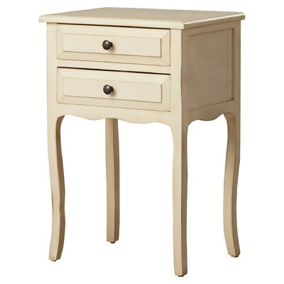 Philipston 2 Drawer Nightstand Color: Barley by Andover Mills