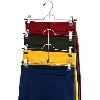 Richards Homewares Blue//Gel 4 Tier 8 Clip Skirt//Slack Hanger Closet Organizer,