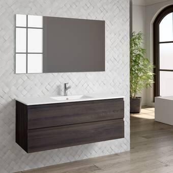Orren Ellis Mcpeak 48 Wall Mounted Single Bathroom Vanity Set Wayfair