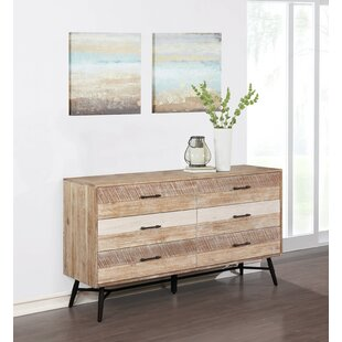 Marisa 6 Drawer Double Dresser by Rosecliff Heights
