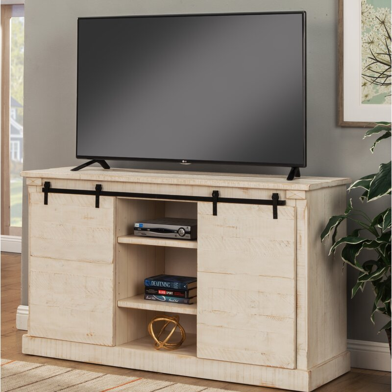 """17 Stories Benefield TV Stand for TVs up to 65""""  Color: Antique White"""
