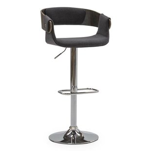 Division Street Height Adjustable Bar Swivel Stool By Mercury Row