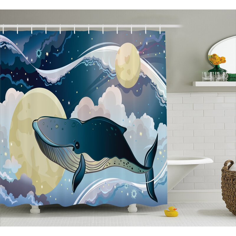 Lottie Night Clouds In Planet Shower Curtain