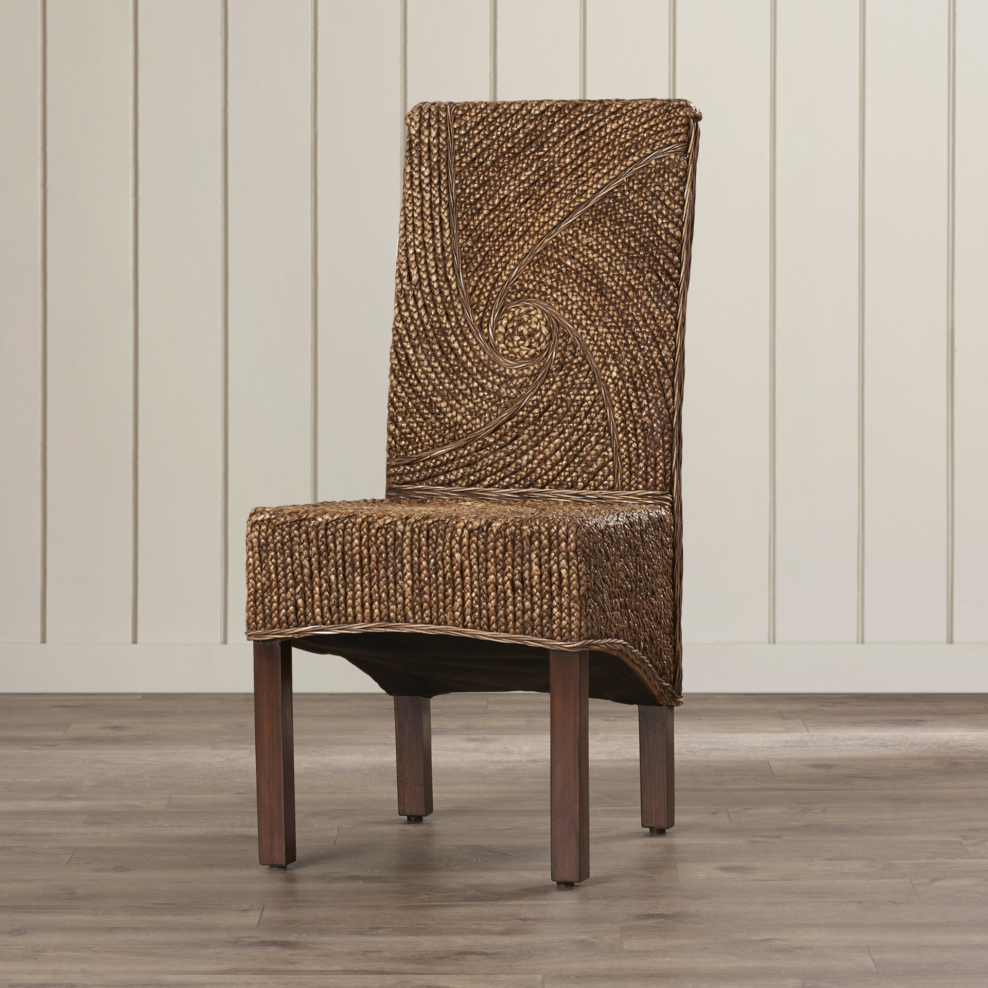 Bay Isle Home Talarico Upholstered Solid Wood Dining Chair In Mahogany Reviews Wayfair